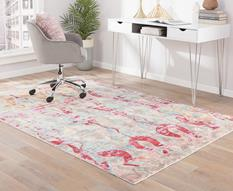 Ceres-CER04-Trellis/Pale Blue Room Lifestyle Machine-Made Area Rug detail