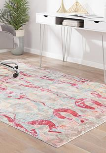 Ceres-CER04-Trellis/Pale Blue Machine-Made Area Rug