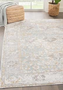 Ceres-CER10-Antique White/Tourmaline Machine-Made Area Rug