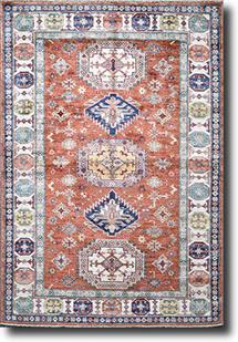 Kazak-Super-Sable Brown Hand-Knotted Area Rug