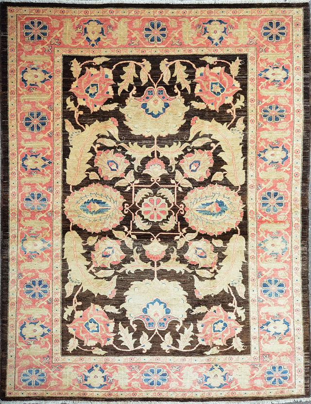 Chobi-CH-VGC-Black Hand-Knotted Area Rug