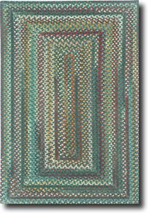 Bear Creek Concentric Rect.-980-450-Deep Blue Braided Area Rug