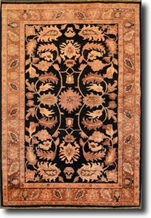 Chobi-VG6001-44-Black Gold Hand-Knotted Area Rug