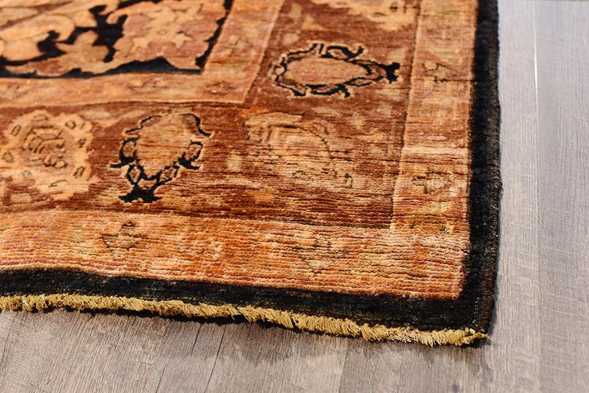 Chobi-VG6001-44-Black Gold Hand-Knotted Area Rug collection texture detail