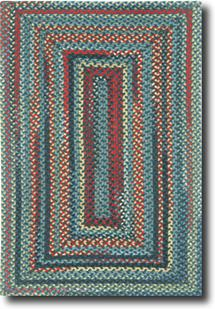 Bear Creek Concentric Rect.-980-480-Night Train Multi Braided Area Rug