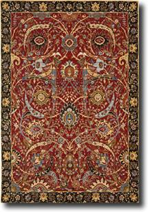 Rhapsody Nouri-RH015-RED Machine-Made Area Rug
