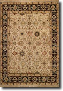 Biltmore Classics-1797-700-Beige/Black Hand-Knotted Area Rug