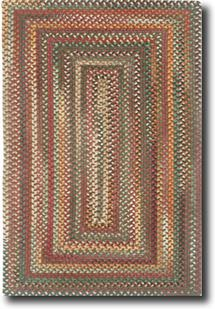 Bear Creek Concentric Rect.-980-550-Heritage Red Braided Area Rug