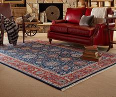 Biltmore Select-1773-450-Regal Blue Room Lifestyle Hand-Knotted Area Rug detail