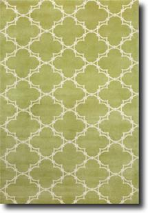 Quatrefoil by Cococozy-1931-275-Apple/Ivory Hand-Knotted Area Rug