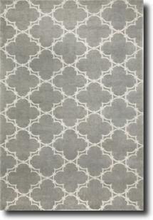 Quatrefoil by Cococozy-1931-360-Gray/Ivory Hand-Knotted Area Rug