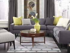 Tuscan Sun-9196-300-Grey Room Lifestyle Hand-Tufted Area Rug detail