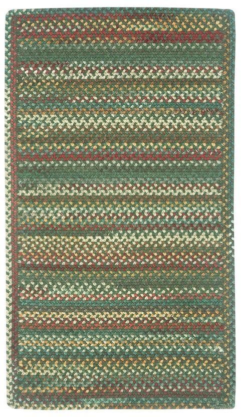 Bear Creek CS Rectangle-980-275-Hunter Green Braided Area Rug