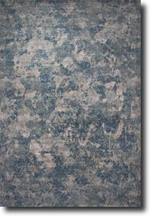 Chaos Theory by Kavi-CKV13-Ensign Blue Steel Gray Hand-Knotted Area Rug