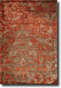 Sheer Elegance-SR08-Great Barrier Copper Rust Hand-Knotted Area Rug