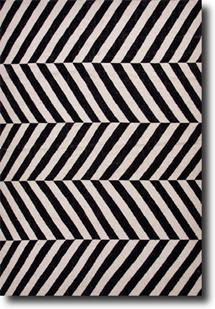 Maroc-MR52-Jet Black Snow White Area Rug