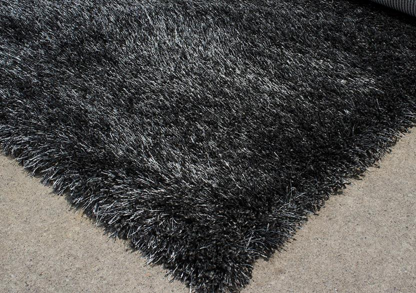 Lotus Shag-PC00-BKBK Shag Area Rug collection texture detail