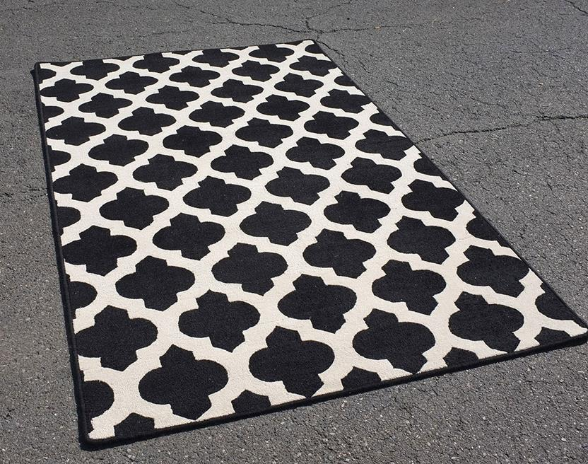 Palma-SHL01-Black Hand-Tufted Area Rug collection texture detail