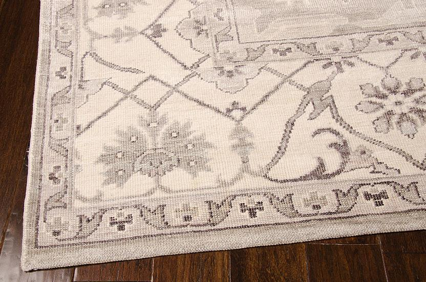 Aldora-ALD01-SIL Hand-Knotted Area Rug collection texture detail