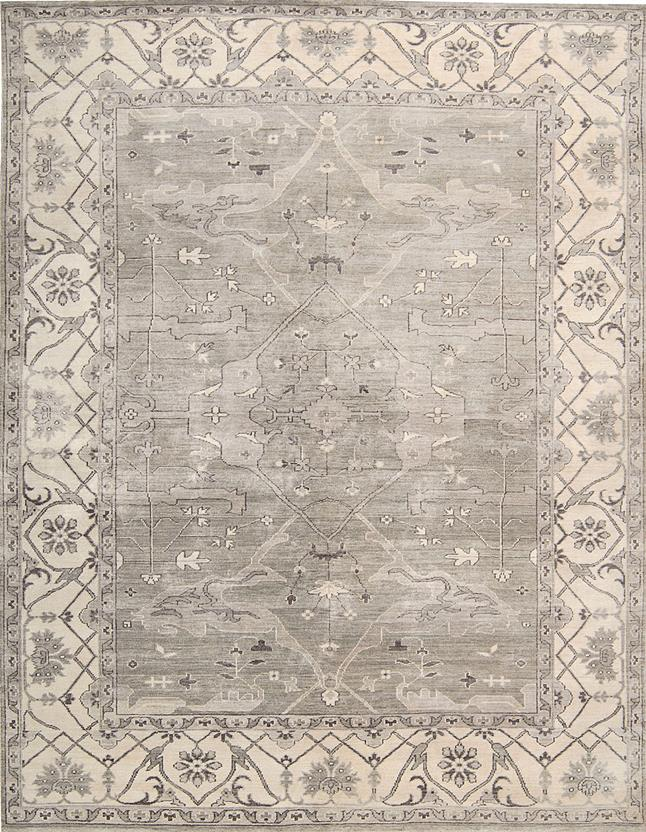 Aldora-ALD01-SIL Hand-Knotted Area Rug