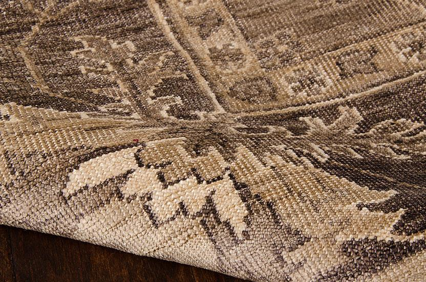 Aldora-ALD03-OPLGY Hand-Knotted Area Rug collection texture detail