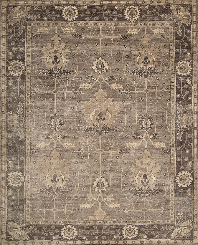 Aldora-ALD03-OPLGY Hand-Knotted Area Rug