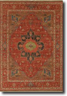 Uptown By Artemis-UT02-Tandori Spice Thrush Hand-Knotted Area Rug
