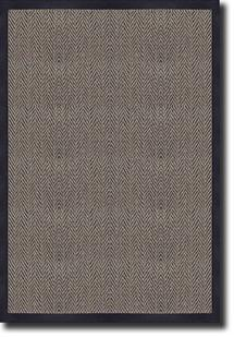 Tweed-Border-Black Machine-Made Area Rug