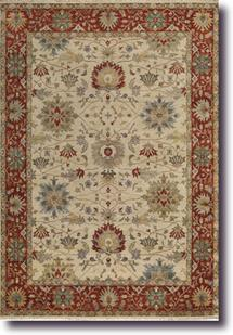 Yazzie-1908-650-Ivory Red Hand-Knotted Area Rug