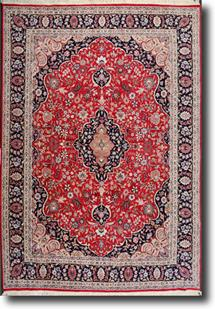 Pak-Persian-P19005-Burgundy Navy   Hand-Knotted Area Rug