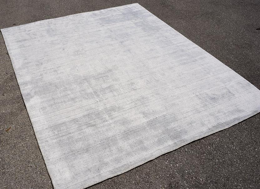 Azores-Solid-4-Cream Hand-Tufted Area Rug collection texture detail