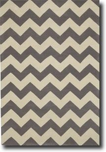 Groove Lounge-GL01-Grey White Hand-Tufted Area Rug