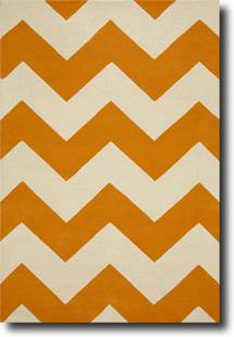 Groove Lounge-GL02-Tangerine White Hand-Tufted Area Rug