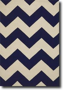 Groove Lounge-GL04-Navy White  Hand-Tufted Area Rug