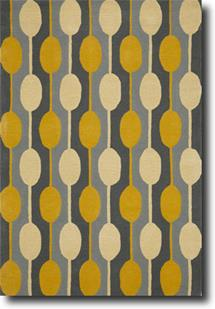 Groove Lounge-GL05-Greys Gold White Hand-Tufted Area Rug