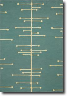 Groove Lounge-GL06-Pale Blue White Hand-Tufted Area Rug