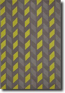 Groove Lounge-GL08-Greys Charteuse Hand-Tufted Area Rug