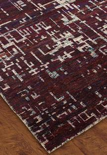 S&C Mysore Silk -SCMS06-Purple Hand-Knotted Area Rug
