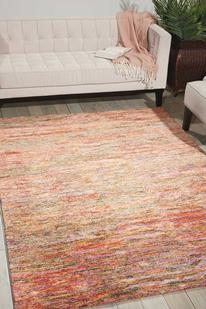 Gemstone-GEM01-FIREO Room Lifestyle Hand-Tufted Area Rug detail