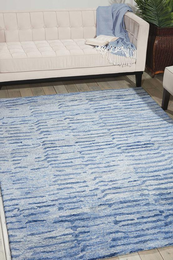 Gemstone-GEM01-LAPIS Room Lifestyle Hand-Tufted Area Rug detail