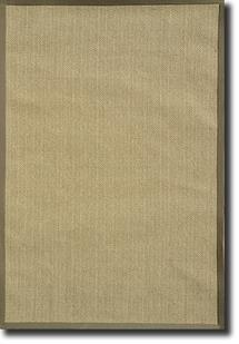 Tweed-Border-Khaki Machine-Made Area Rug