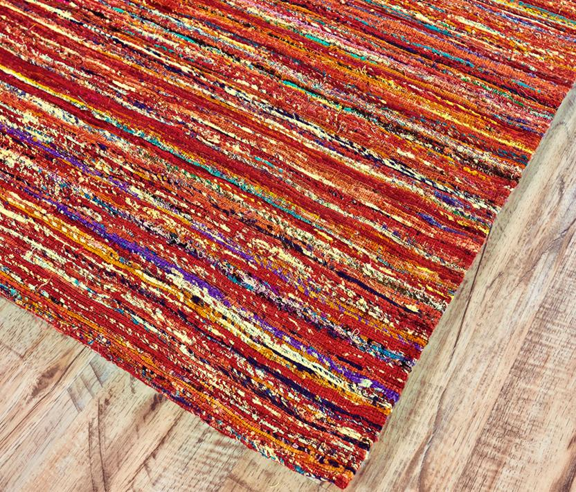 Arushi-0504F-REDMLT Area Rug collection texture detail