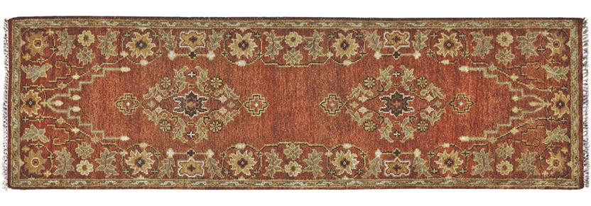 Ashi-6128F-RST000 Runner Hand-Knotted Area Rug detail