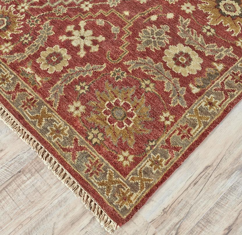 Ashi-6128F-RST000 Hand-Knotted Area Rug collection texture detail