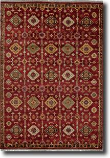 Ashi-6129F-RED000 Hand-Knotted Area Rug