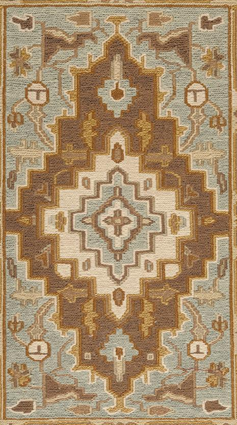 Ankara-AK03-Spa Blue Beige Area Rug collection texture detail