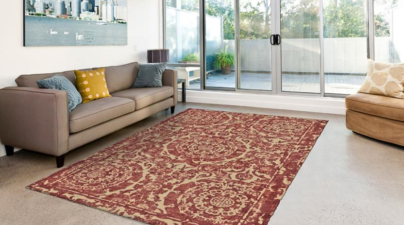 Dylan-8596F-RBY000 Room Lifestyle Hand-Tufted Area Rug detail