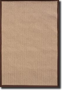 Tweed-Border-Brown Machine-Made Area Rug