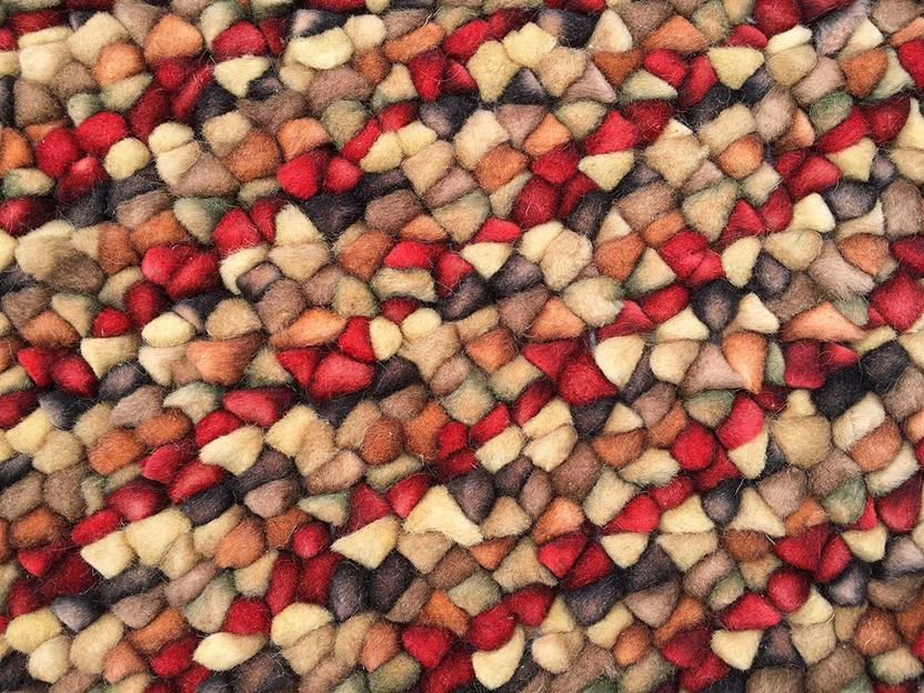 Pebbles-1921-575-Cranberry Shag Area Rug collection texture detail