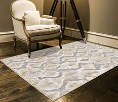 Saphir Zam-3250F-PEWGRY Room Lifestyle Machine-Made Area Rug detail